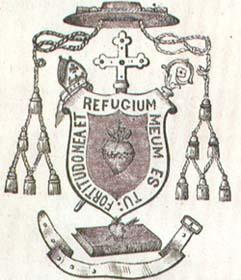 Escudo de armas del obispo san Ezequiel Moreno. Versión original